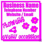 FLORISTS FLOWER ARRANGING MAGNETIC SIGN CAR VAN 1 PAIR